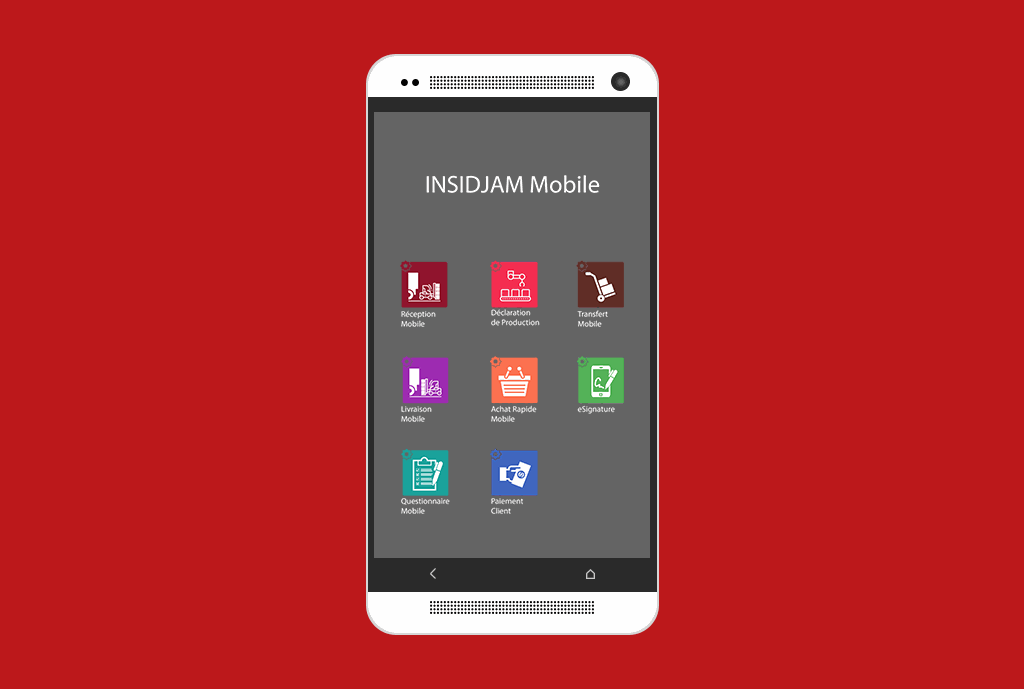 INSIDJAM ERP Algérie applications Mobile